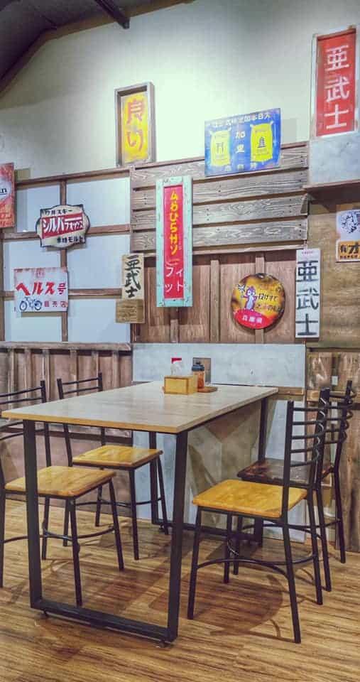 โซนนั่งรับประทานอาหารร้านอบูชิ Abushi ในบรรยากาศสไตล์ญี่ปุ่น