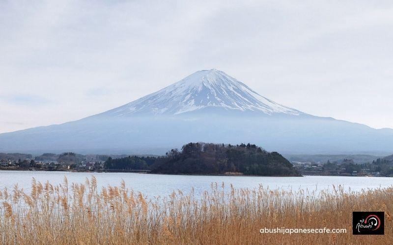 การเดินทางของ Abushi เที่ยวญี่ปุ่น ภูเขาไฟฟูจิ จากริมทะเลสาบ